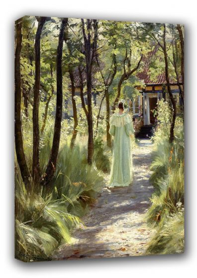 Kroyer, Peder Severin: Marie in the Garden. Fine Art Canvas. Sizes: A3/A2/A1 (00500)